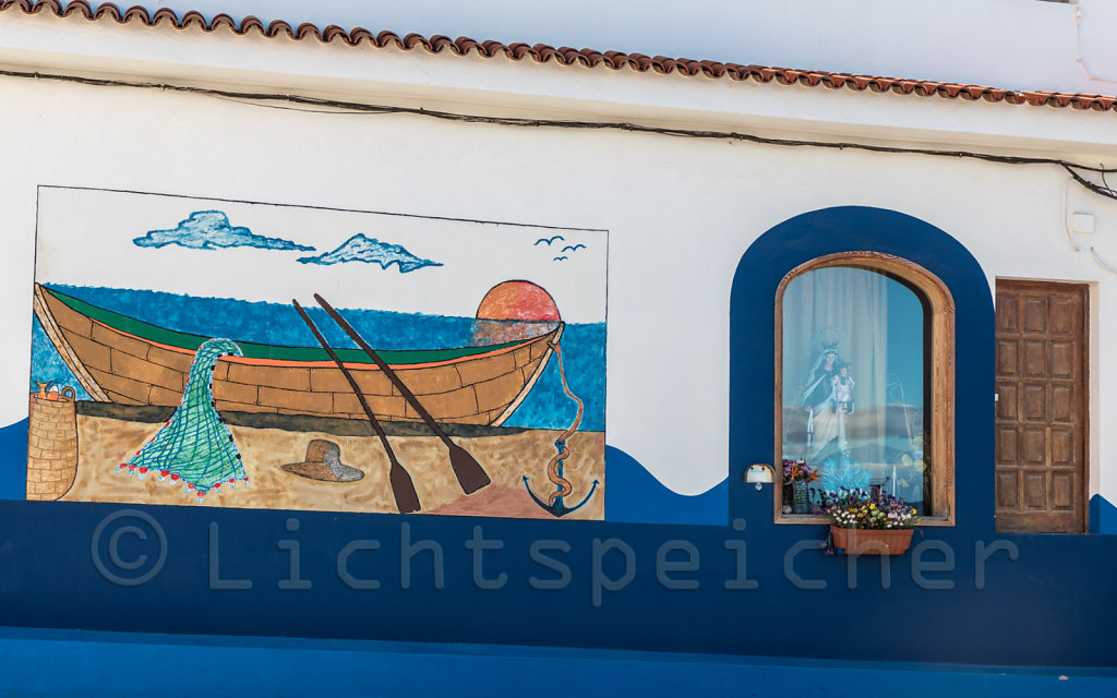 Blaues Idyll in Agaete mit Teide
